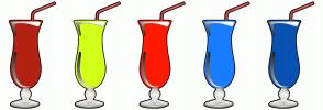 Color Scheme with #B32212 #D3FF19 #FF1A00 #197DFF #0952B3