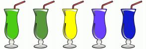 Color Scheme with #4CCC14 #59993D #FFFF00 #6940FF #141ECC