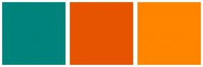 Color Scheme with #00837C #E65400 #FF8400