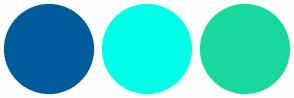 Color Scheme with #005B9A #00FFE8 #18D89C