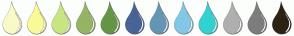 Color Scheme with #FAFAC8 #FAFA96 #C8E682 #96B464 #649646 #466496 #6496B4 #82C8E6 #32D2D2 #AFAFAF #7D7D7D #2D2314