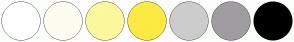 Color Scheme with #FFFFFF #FCFCF2 #FCF89D #FCEA42 #CCCCCC #A09DA1 #000000