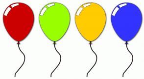 Color Scheme with #CC0000 #99FF00 #FFCC00 #3333FF