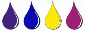 Color Scheme with #44237F #0B0BAF #FAE908 #A01F76