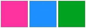 Color Scheme with #FF33A0 #1E90FF #00A220