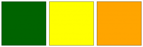 Color Scheme with #006400 #FFFF00 #FFA500