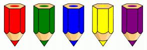 Color Scheme with #FF0000 #008000 #0000FF #FFFF00 #800080