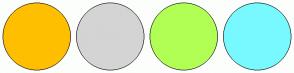 Color Scheme with #FFBF00 #D4D4D4 #B1FF54 #78F9FF