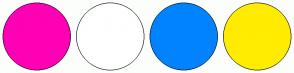 Color Scheme with #FF00B4 #FFFFFF #0083FF #FFEC00