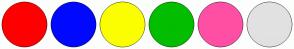 Color Scheme with #FF0000 #0008FF #FBFF00 #03BD00 #FF4FA4 #E1E1E1
