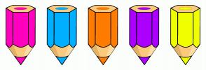 Color Scheme with #FF00BF #00B0FF #FF7C00 #AC00FF #F0FF00