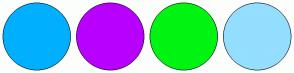 Color Scheme with #00B0FF #B800FF #00F412 #94DEFF