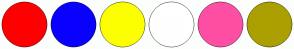 Color Scheme with #FF0000 #0A00FF #FCFF00 #FFFFFF #FF4FA4 #AC9F00