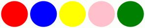 Color Scheme with #FF0000 #0000FF #FFFF00 #FFC0CB #008000