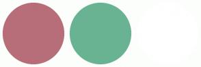 Color Scheme with #B76E79 #69B392 #FFFFFF