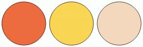 Color Scheme with #EC6C3F #F9D654 #F3D8BD