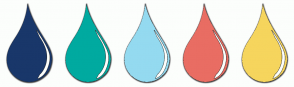 Color Scheme with #19376A #00AAA0 #94DAF0 #E96D63 #F6D55D