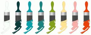 Color Scheme with #F8FFF8 #0B3C3B #06A0AA #1A8481 #83A21A #FFE593 #F7B0AA #EB4109