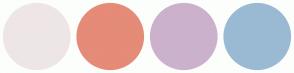 Color Scheme with #EEE6E6 #E58B78 #CCB1CC #9ABAD4
