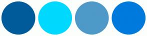 Color Scheme with #005B9A #00D9FF #4E99C7 #007ADC
