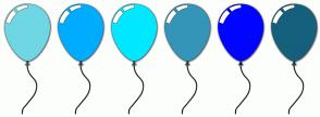 Color Scheme with #6FD7E3 #00ACFF #00E8FF #3495B8 #0005FF #15607C