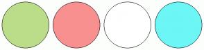Color Scheme with #BBDD8A #F99090 #FFFFFF #6DF6F6