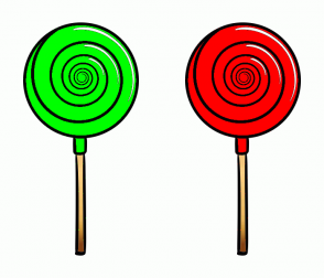 Color Scheme with #00FF00 #FF0000