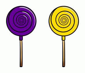 Color Scheme with #660099 #FFDE00