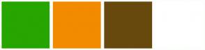 Color Scheme with #27A500 #F28B00 #67490E #FFFFFF