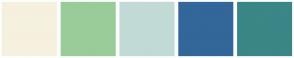 Color Scheme with #F5F1DE #99CC99 #C1DAD6 #336699 #3B8686