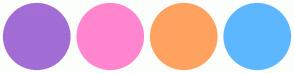 Color Scheme with #A26DD4 #FF86CE #FFA260 #5DB7FF