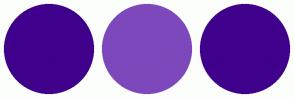 Color Scheme with #3F008B #7C48BB #3F008B