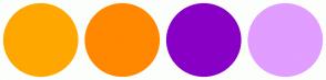 Color Scheme with #FFA700 #FF8800 #8800C5 #E19DFF