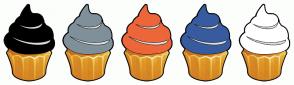 Color Scheme with #000000 #7F909A #ED6639 #385B9F #FFFFFF