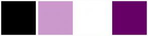 Color Scheme with #000000 #CC99CC #FFFFFF #660066