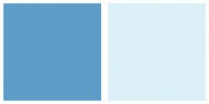 Color Scheme with #5E9DC8 #DCF0F7