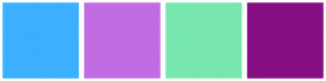 Color Scheme with #3CAFFF #C26CE3 #78E7AE #850E83