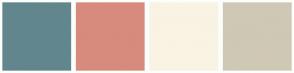 Color Scheme with #62868D #D78B7D #F9F3E3 #CFC8B5