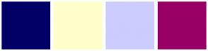 Color Scheme with #000066 #FFFFCC #CCCCFF #990066