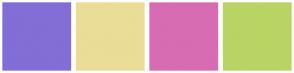 Color Scheme with #826ED6 #EADD98 #D86CB3 #B9D464