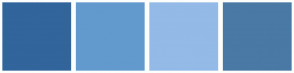 Color Scheme with #31659C #639ACE #94BAE7 #4A79A5