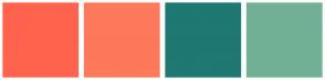 Color Scheme with #FF634D #FD795B #1F7872 #72B095