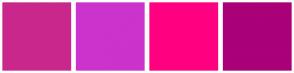 Color Scheme with #CA278C #CC33CC #FF0080 #AA0078