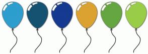 Color Scheme with #2D9ECE #155271 #153A8F #DBA231 #65A641 #9ACD47