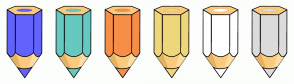 Color Scheme with #6262FD #66C9C1 #F78E48 #EED77A #FFFFFF #DCDCDC