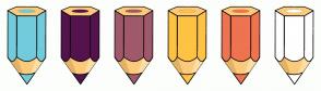 Color Scheme with #72CBDB #55134E #A0596B #FEC343 #EF7351 #FFFFFF