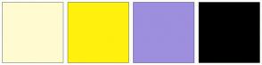 Color Scheme with #FFFBD0 #FFF10D #9E8EDE #000000