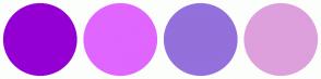 Color Scheme with #9400D3 #E066FF #9370DB #DDA0DD