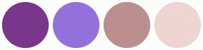 Color Scheme with #7A378B #9370DB #BC8F8F #EED5D2