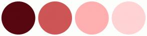 Color Scheme with #570710 #CD5555 #FFAFAF #FFD3D3